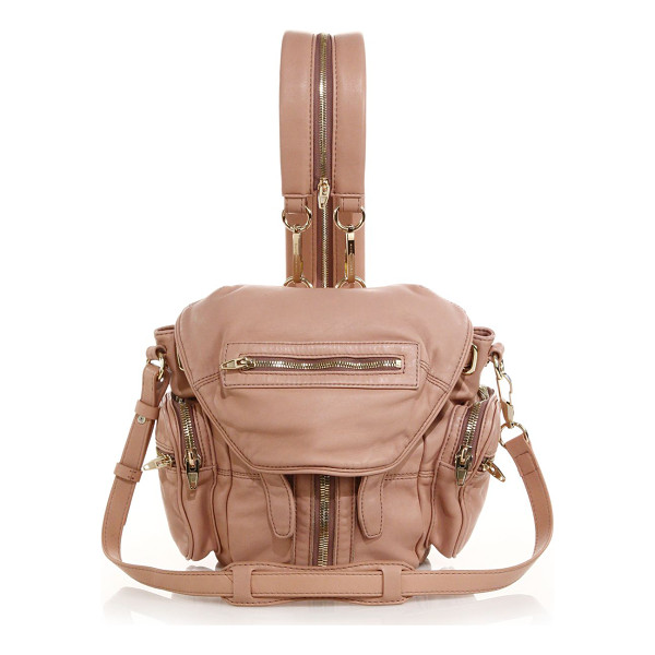 ALEXANDER WANG Marti mini convertible leather backpack - Buttery lambskin is fashioned in a pared-down size that...