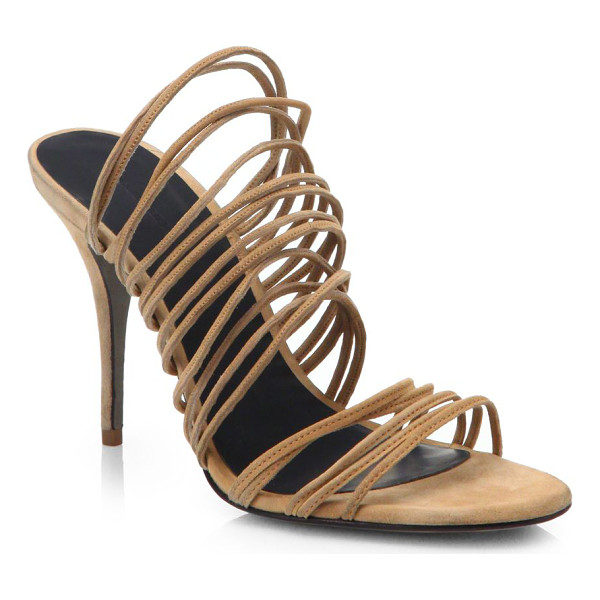 ALEXANDER WANG Mathilde strappy suede sandals - Rows of slim suede straps shape this sexy silhouette,...