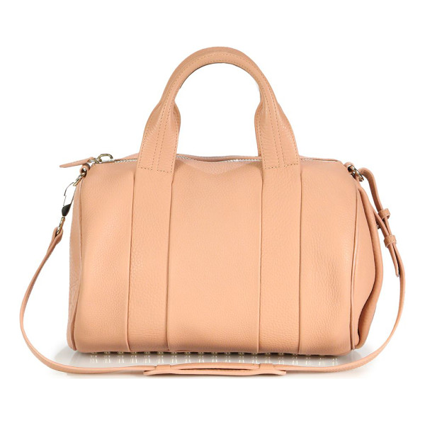 ALEXANDER WANG Rocco lambskin satchel - Rows of metal feet and gleaming hardware add rock n' roll...