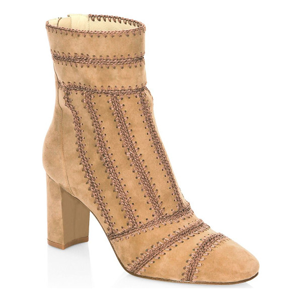 ALEXANDRE BIRMAN beatrice embroidered leather booties - Enticing embroidery works elevate these chic booties....