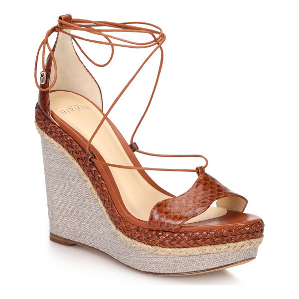 Alexandre Birman Braided Python Wedge Sandals Nudevotion Com