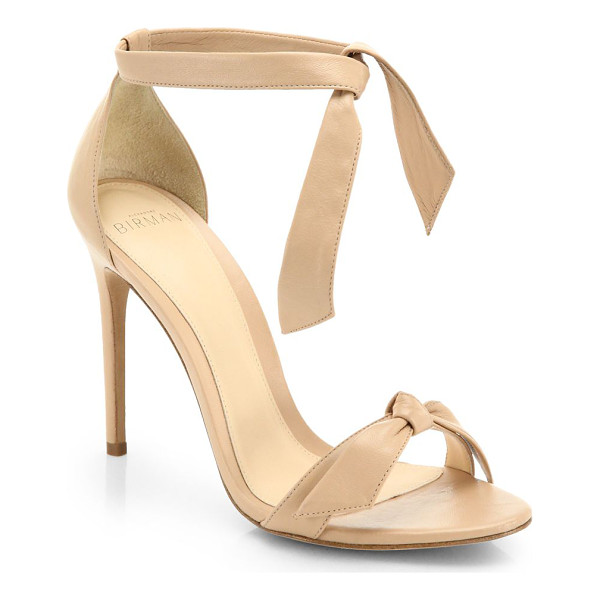 ALEXANDRE BIRMAN clarita leather ankle-tie sandals - Luxe leather ankle-tie sandal with knotted toe band.