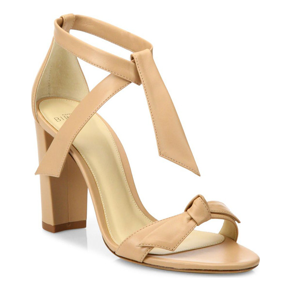 ALEXANDRE BIRMAN clarita leather block heel sandals - Luxurious block heel sandals designed from leather.