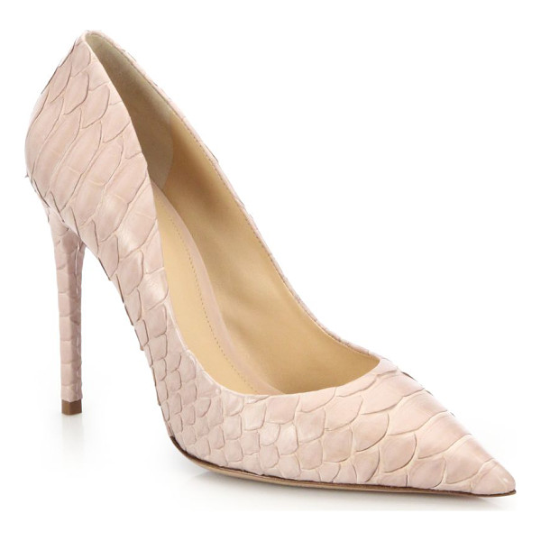 ALEXANDRE BIRMAN Olga python pumps - Point-toe pump in softly blushed pythonSelf-covered heel,...
