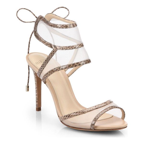 ALEXANDRE BIRMAN Snakeskin and mesh sandals - Equal parts sultry and demure, mesh panels create the...