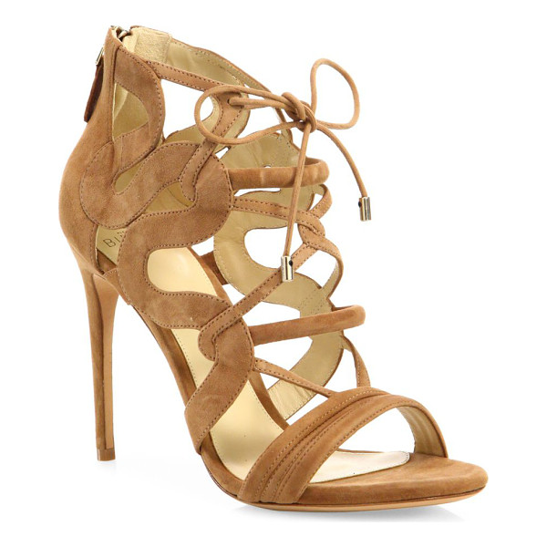 ALEXANDRE BIRMAN strappy suede cage sandals - Sultry suede cage sandal framed with curvy sides.