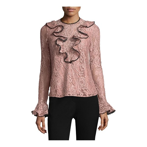 ALEXIS addie ruffled lace top - EXCLUSIVELY AT SAKS FIFTH AVENUE. Lace top with front and...