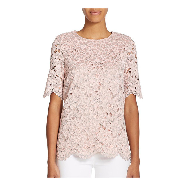 ALEXIS Iris lace top - EXCLUSIVELY AT SAKS. An eye-catching hue and split-back...