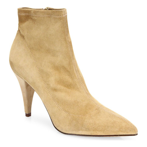 ALICE + OLIVIA camryn suede point-toe booties - Luxe suede silhouette finished with sharp point toe....