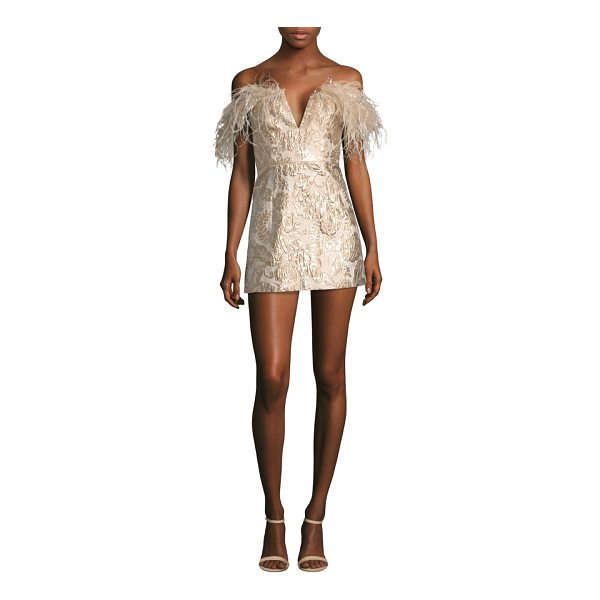 ALICE MCCALL pop goes the party feather brocade mini dress - Mini brocade dress finished with a plume of...