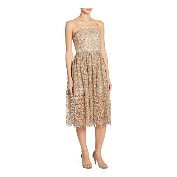 ALICE + OLIVIA alma lace party dress - Beaded knee-length party dress with lace embroidery....