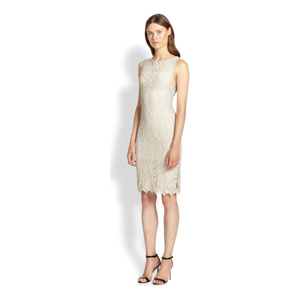 ALICE + OLIVIA Amea lace dress - Alluring allover lace is cut into a simply elegant sheath...