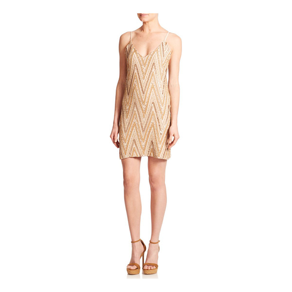ALICE + OLIVIA Avalon rhinestone embroidered chevron dress - Instantly alluring and glamorous, this rhinestone-studded...