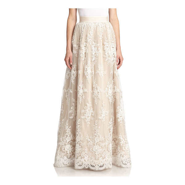 ALICE + OLIVIA Carter lace-overlay maxi skirt - An exquisite, stand-out piece, this flowing maxi skirt is...