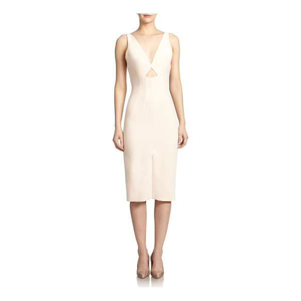 ALICE + OLIVIA Dash cutout-front sheer-paneled dress - This sleek sheath dress cut with smooth lines is a...