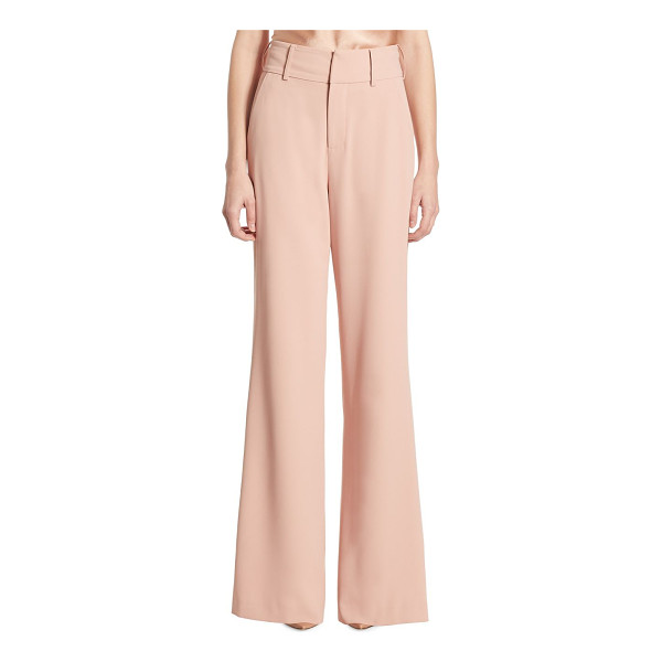 ALICE + OLIVIA dawn high-waist flared pants - Elongating high-waist pants in flared silhouette. Belt...