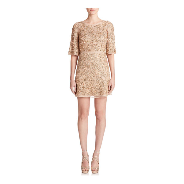 ALICE + OLIVIA Drina rhinestone floral-embroidered dress - Perennially chic in an effortlessly flattering, fluid...