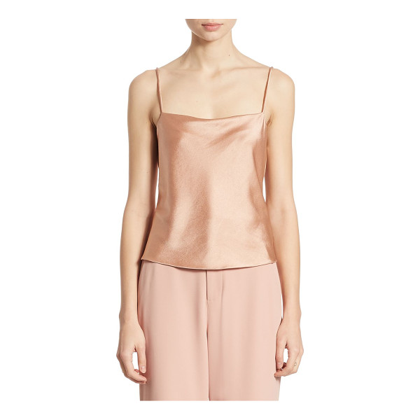 ALICE + OLIVIA harmon satin camisole - Slinky camisole cast in soft, lustrous satin. Squareneck....