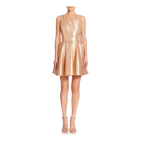 ALICE + OLIVIA Lia metallic fit & flare dress - With a gleaming gold finish and alluring back cutouts, this...