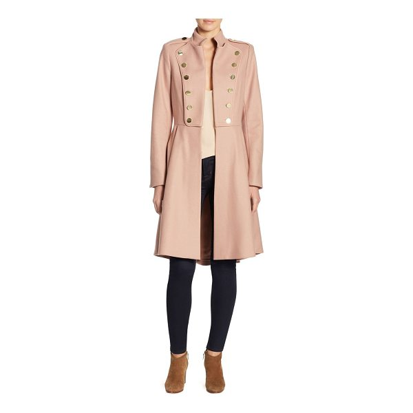 ALICE + OLIVIA rossi mid-length military coat - Wool-blend military coat with embellishment. Stand collar....