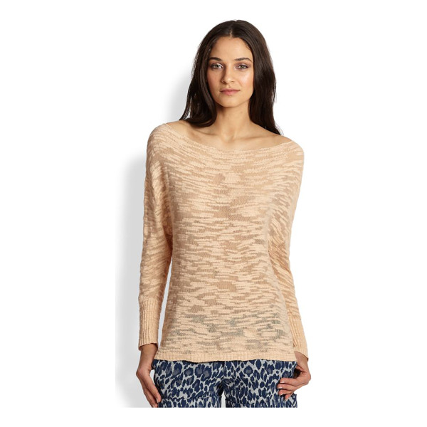 ALICE + OLIVIA Slub slouchy pullover sweater - The attention is in the details in this relaxed style...