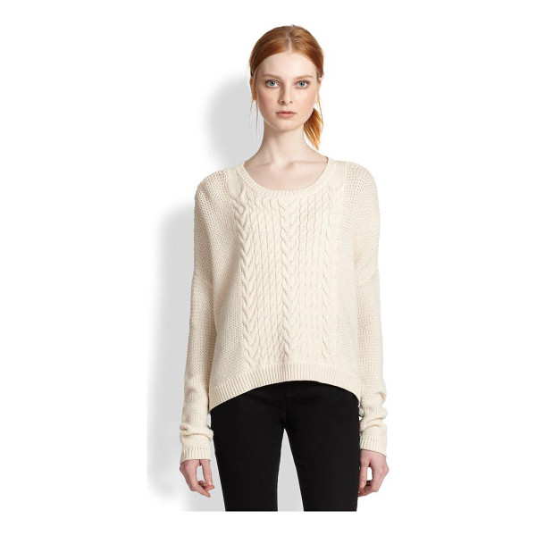 ALICE + OLIVIA Wool cable-knit pullover - A slouchy-chic boyfriend classic, defined by timeless...