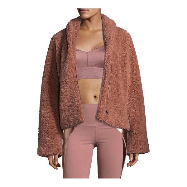 ALO YOGA cozy up jacket - Fleece jacket with a cropped silhouette. Roundneck. Long...