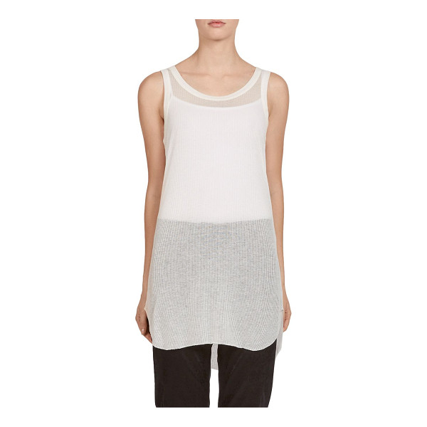 ANN DEMEULEMEESTER ribbed jersey tank - Ribbed cotton jersey fabric. Roundneck. Sleeveless....