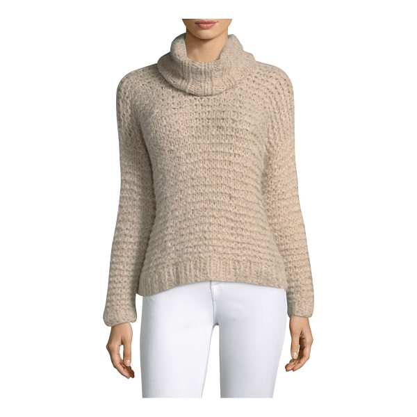 APIECE APART nepenthe cropped turtleneck sweater - Classic sweater in a knitted pattern. Turtleneck. Long...