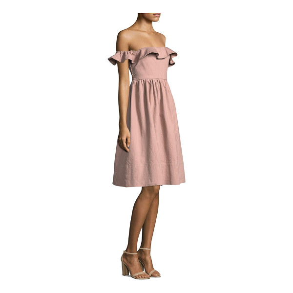 APIECE APART novella maria fit-and-flare dress - Cotton-blend dress with ruffle opening style....