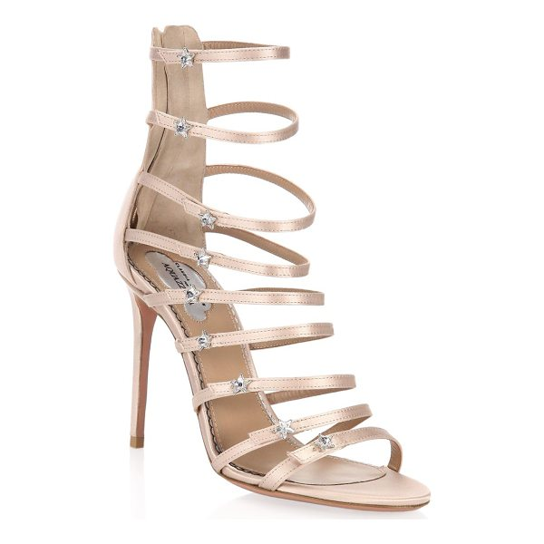 AQUAZZURA claudia schiffer for  crystal star sandals - On-trend sandals with metallic stars on straps. Stiletto...