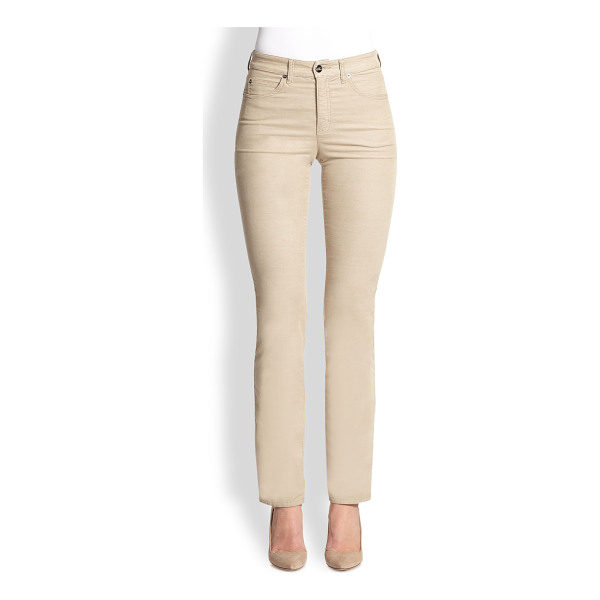 ARMANI COLLEZIONI Microfiber jeans - Classic, five-pocket tailoring ensures the unmitigated...