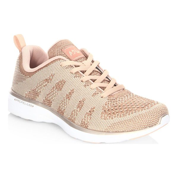 APL: ATHLETIC PROPULSION LABS techloom pro cashmere sneakers - Innovative knit sneaker made of breathable mesh. Knitted...