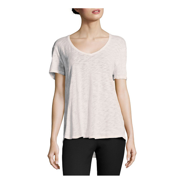 ATM ANTHONY THOMAS MELILLO slub jersey boyfriend tee - Relaxed cotton blend slub jersey tee finished.V-neck....