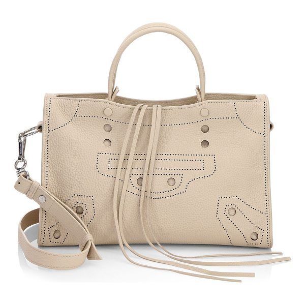 BALENCIAGA blackout city handbag - Features crafted dot-perforated in a motif detail. Double...