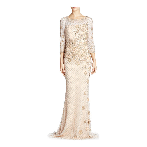 BASIX BLACK LABEL embellished gown - Eye-catching beads and sequin details adorn this gown....