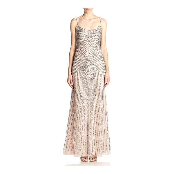 BASIX BLACK LABEL sequined slip gown - Body-skimming slip gown with sequined embellishment in an...
