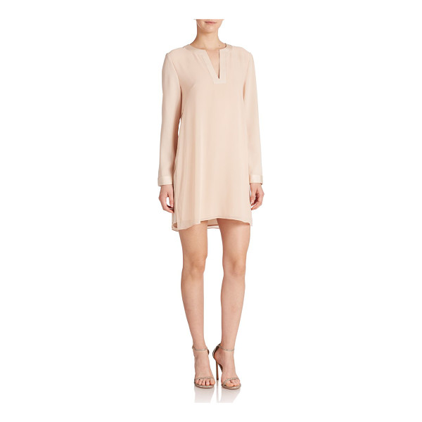 BCBGMAXAZRIA dyanne city dress - Tunic-inspired design and satin trim highlight this...