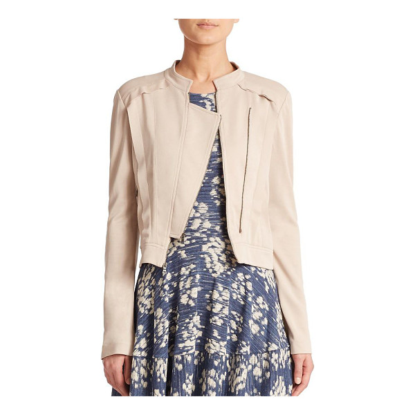 BCBGMAXAZRIA Kevin jacket - As sleek as it is chic, this soft jersey knit jacket is...