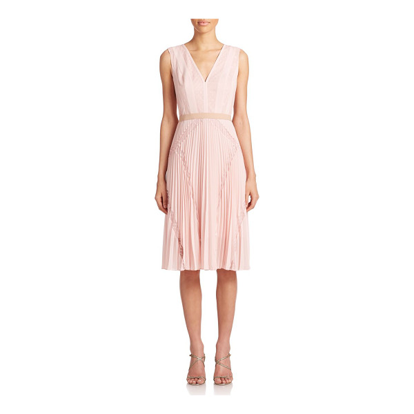 BCBGMAXAZRIA Rylee lace-inset dress - Pretty pindot lace panels add an ultra-feminine touch to...
