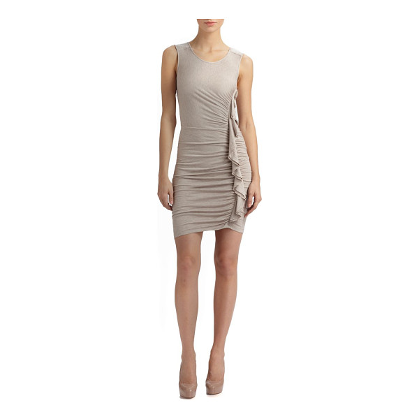 BCBGMAXAZRIA side ruched dress - Intricately ruched silhouette with a body-length ruffle for...