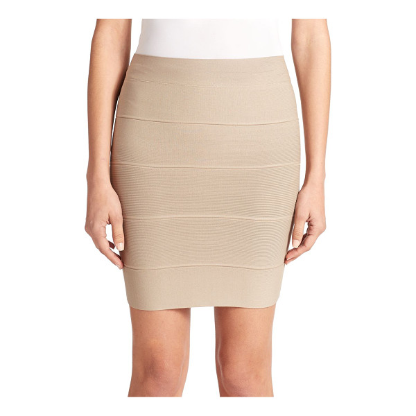 BCBGMAXAZRIA Simone textured power skirt - This body-hugging bandage design lends a touch of alluring...
