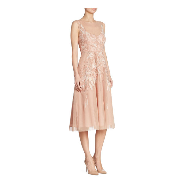 BCBGMAXAZRIA sleeveless cocktail dress - Elegant cocktail dress with embroidered floral pattern....