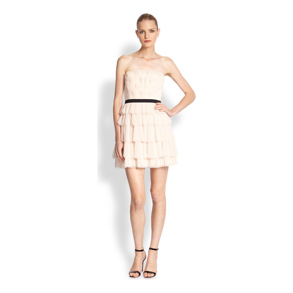 BCBGMAXAZRIA Tiered strapless dress - Tiered from bodice to hem, this frock manages to be at once...