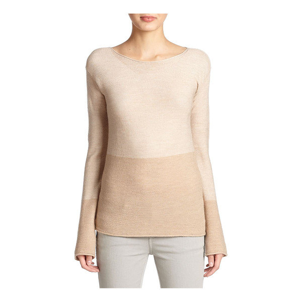 BELSTAFF Knit colorblock top - A luxe ribbed fabric blend shapes this polished boatneck...