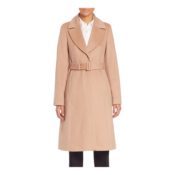 BOSS Cerana coat - Belted wool coat in tailored fitNotched lapelsLong...
