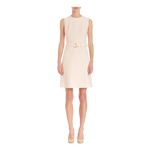 BOSS diganira cinch belt dress - Solid silhouette accentuated with a chic belt. Round...