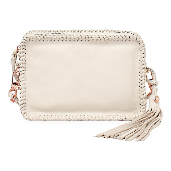 BOTKIER quincy embossed leather crossbody - Woven trim outlines a tonal embossed leather bag. Removable...