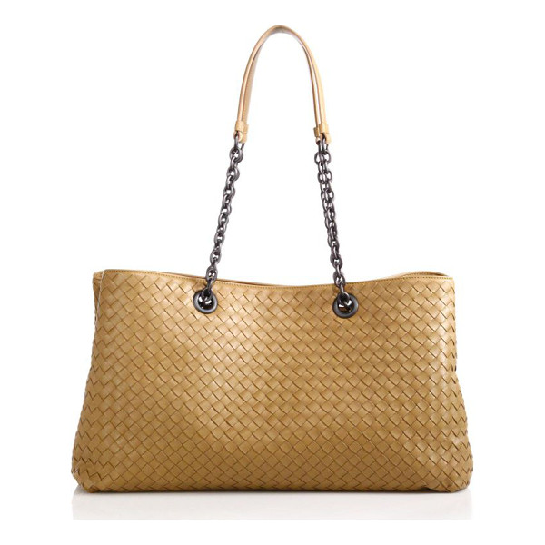 BOTTEGA VENETA Intrecciato top-handle bag - An elegant top-handle bag impeccably crafted of Italian...