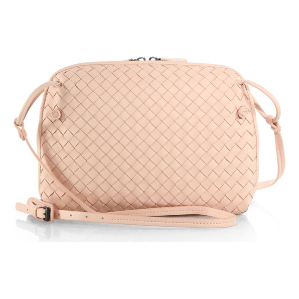 BOTTEGA VENETA Small woven crossbody bag - Finely woven leather characterizes this compact silhouette...